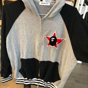 Bape hooded zip-up sweatshirt